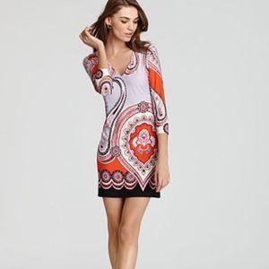 Ali Ro Jefferson V-Neck Jersey Dress Cayenne Multi